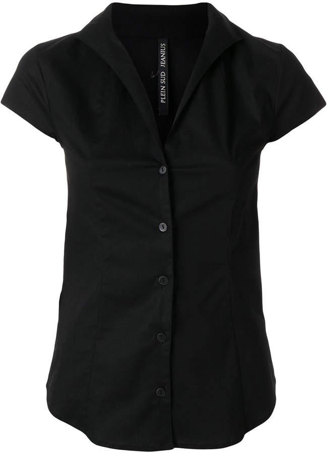 Plein Sud Jeanius open V-neck shirt