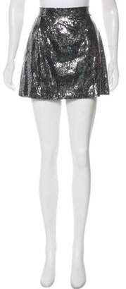 Dolce & Gabbana Sequin-Embellished Mini Skirt w/ Tags Silver Sequin-Embellished Mini Skirt w/ Tags