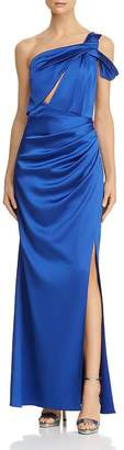 Laundry by Shelli Segal One-Shoulder Satin Gown