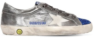 Golden Goose Super Star Metallic Leather Sneakers