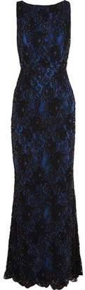 Alice + Olivia Alice+olivia Jae Cutout Embellished Corded Lace Gown
