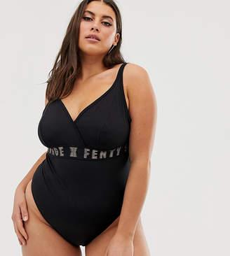 885848dcbe Savage X Fenty Savage x Fenty Plus Size logo bodysuit in black
