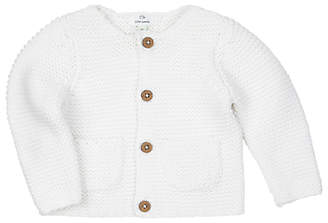 John Lewis & Partners Baby's Chunky Knit Cardigan, Cream
