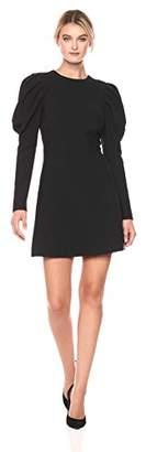 Nicole Miller Women's Dtrechy Tech Puff Sleeve Dress