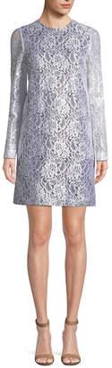 MSGM Ruffle Back Lace Mini Dress