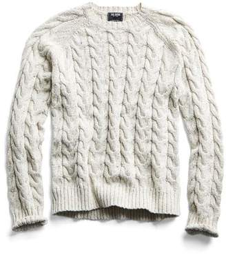 7e8416be12 Todd Snyder Cotton Cable Crewneck Sweater in Cream