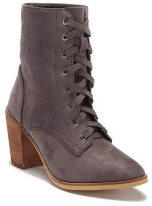 Catherine Malandrino Nancy Lace-Up Block Heel Boot