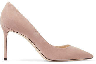 Jimmy Choo Romy 85 Suede Pumps - Blush