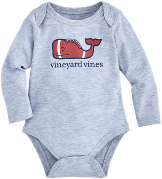 Vineyard Vines Baby Football Whale Long-Sleeve Bodysuit