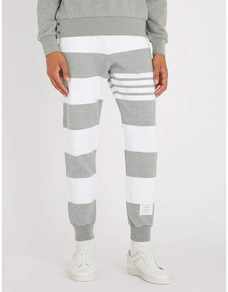 Thom Browne Striped cotton-jersey jogging bottoms