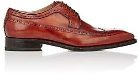 Harris Men's Leather Wingtip Bluchers-Orange