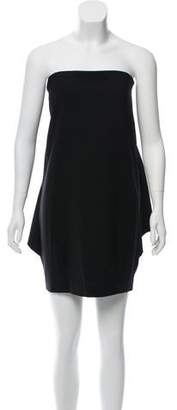 Fendi Strapless Draped Mini Dress