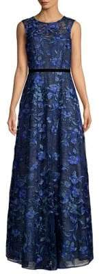 Aidan Mattox Sleeveless Floral Printed Dress