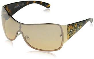 Southpole Women's 1024sp Gld Non-polarized Iridium Shield Sunglasses