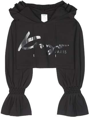 Kenzo Cropped printed hoodie
