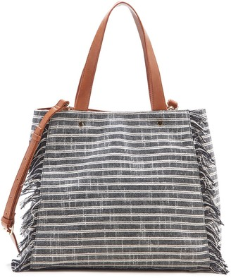 Huxlee Fabric Tote w/ Fringe $64.95 thestylecure.com