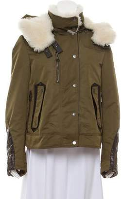 Belstaff Shearling-Trimmed Down Jacket