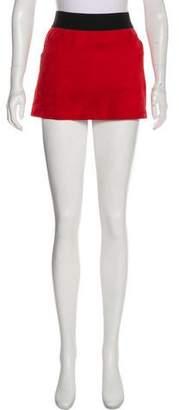 Raquel Allegra Suede Mini Skirt