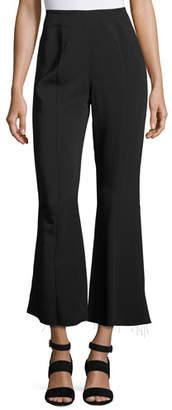 Elizabeth and James Carel Fit & Flare Side-Zip Cropped Pant, Black $325 thestylecure.com