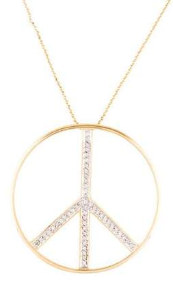 M2 Design by Mary Margrill 14K Diamond Peace Pendant Necklace