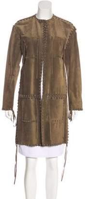 Lanvin Suede Knee-Length Coat