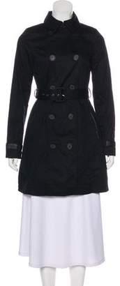 DKNY Long Sleeve Short Trench Coat