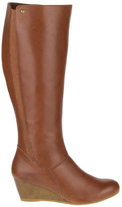 Hush Puppies Womens Pynical Rhea Riding Boots Wedge Heel Zip
