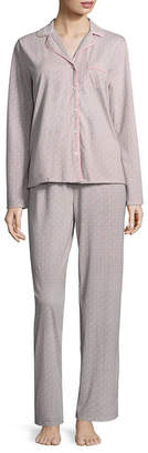 Adonna Knit Notch Collar Pant Pajama Set