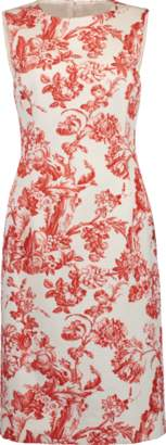 Oscar de la Renta Printed Sheath Dress