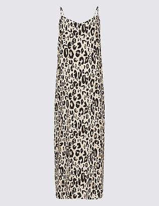 Limited Edition Animal Print Slip Midi Dress