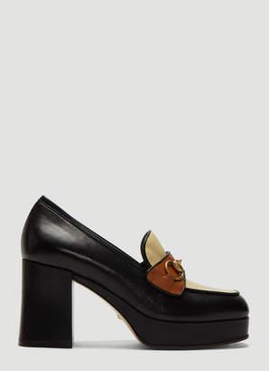 Gucci Horsebit High-Heel Loafers in Black