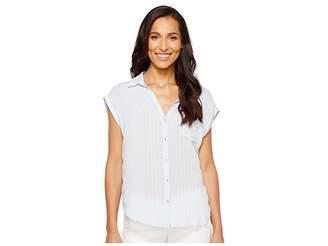 Calvin Klein Jeans Whisper Weight Pop Over Blouse Women's Blouse