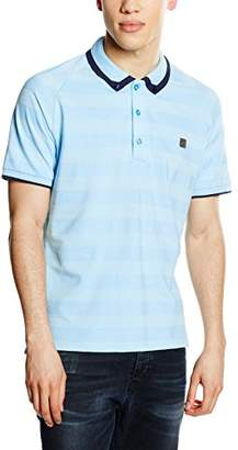 Voi Jeans Men's Agent Striped Short Sleeve Polo Shirt,Large