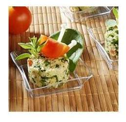 clear Fineline Settings 6201-CL, 2.25x2.25-Inch Plastic Tiny Trays, 200-Piece Case