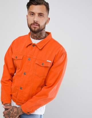 N. Liquor Poker Oversized Denim Jacket In Burnt Orange