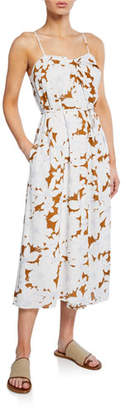 Vince Tropical Blooms Printed Twist-Front Slip Dress
