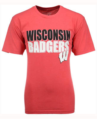 Colosseum Men Wisconsin Badgers Wordmark Stack T-Shirt