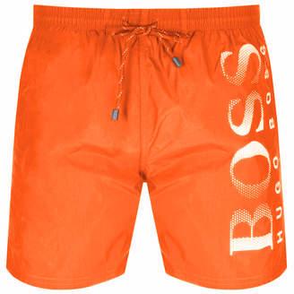 d8b89664ff8 HUGO BOSS Boss Business Octopus Swim Shorts Orange