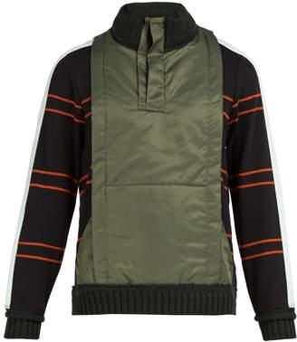 Craig Green Ridge-knit cotton-blend quarter-zip sweatshirt