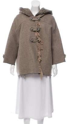 Ermanno Scervino Wool Short Coat