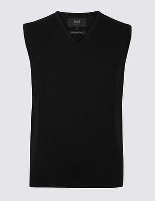 Marks and Spencer Pure Merino Wool Sleeveless Jumper