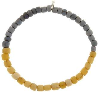 Men In Cities Two-Tone Bead Bracelet