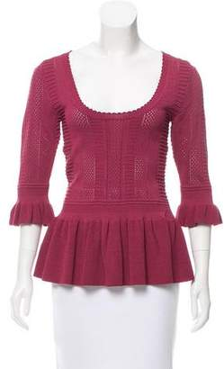 Torn By Ronny Kobo Three-Quarter Sleeve Knit Top w/ Tags