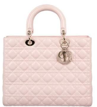 Christian Dior Large Lady Bag w/ Strap