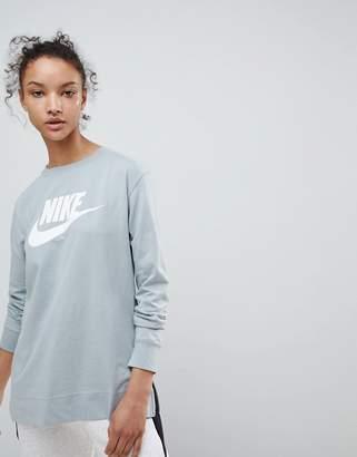 Nike Long Sleeve T-Shirt In Green