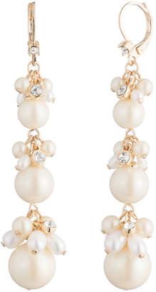Carolee Pacific Pearl Triple Cluster Drop Earrings