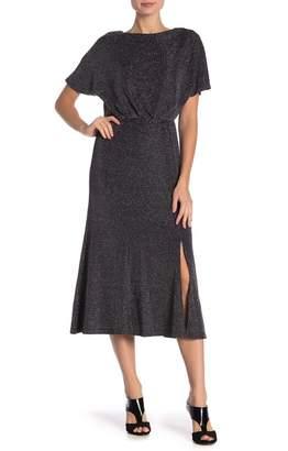 Donna Morgan Short Sleeve Metallic Dress