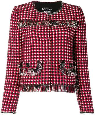Moschino regular fit tweed jacket
