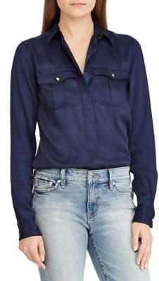 Lauren Ralph Lauren Silky Twill Reyhan Long Sleeve Shirt