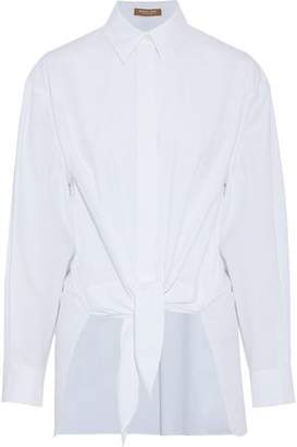 Michael Kors Tie-Front Cotton-Poplin Shirt